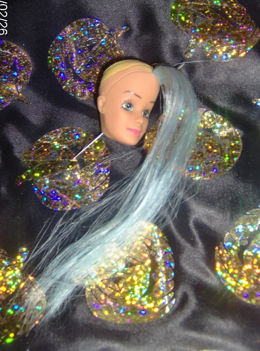 Barbie - partial re-root in Nylon.