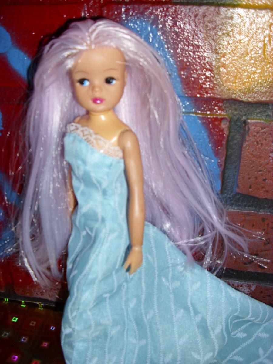 Pedigree Sindy re-root in Fairy's Breath Nylon