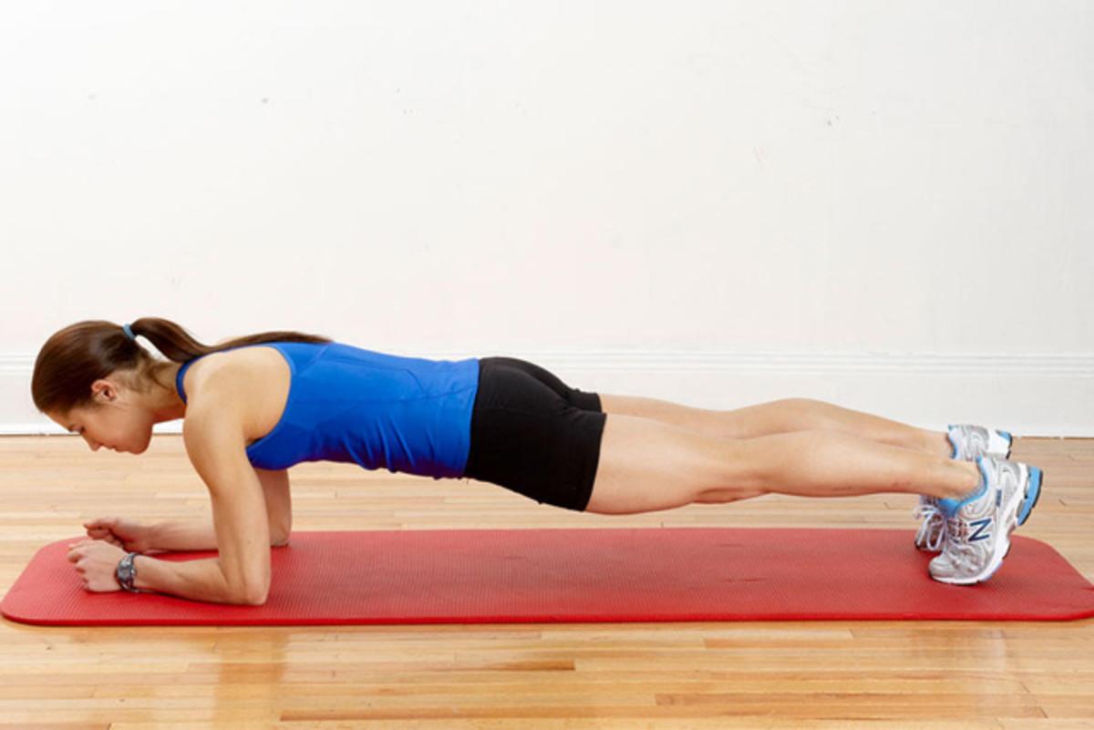 Woman do exercise