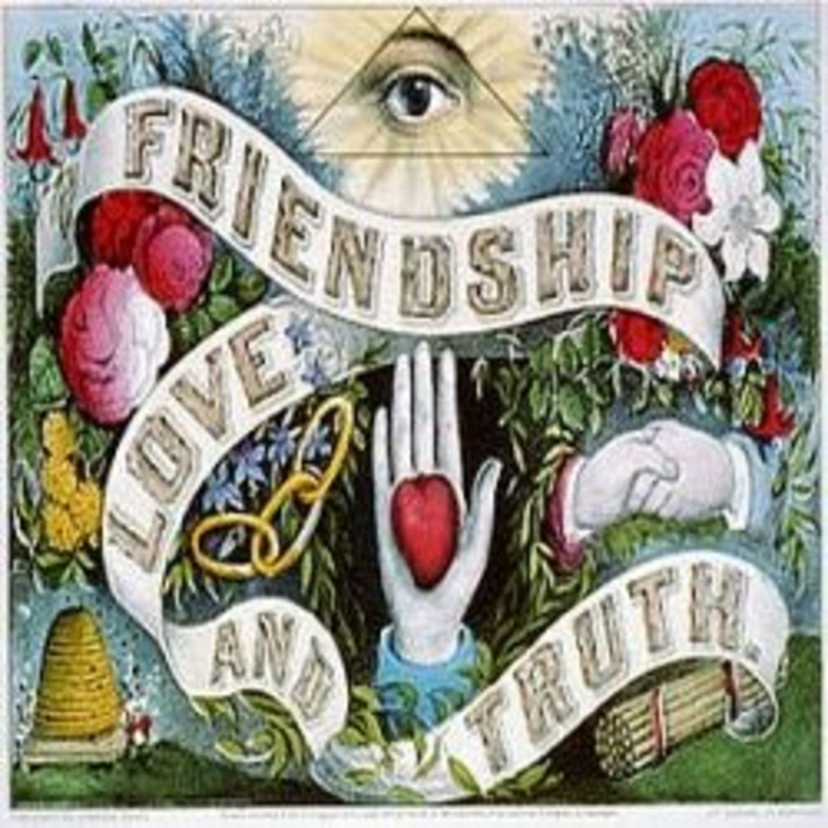 Currier & Ives--Friendship love and truth Image