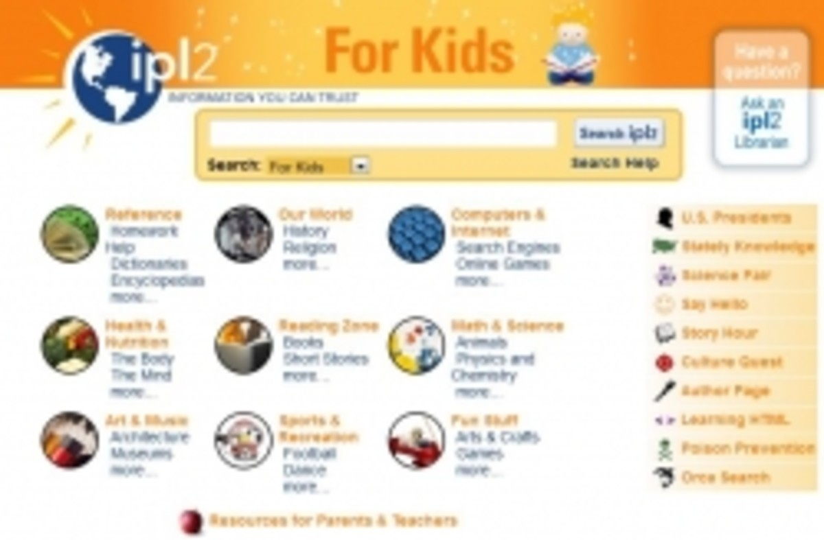 Internet Public Library 2 Search Engine for Kids and Teens
