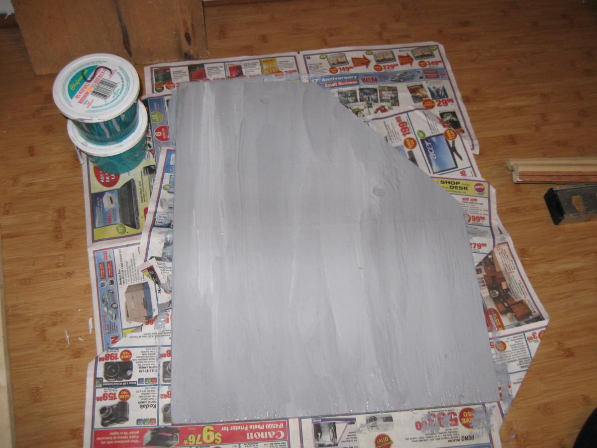 Paint grey wih streaks
