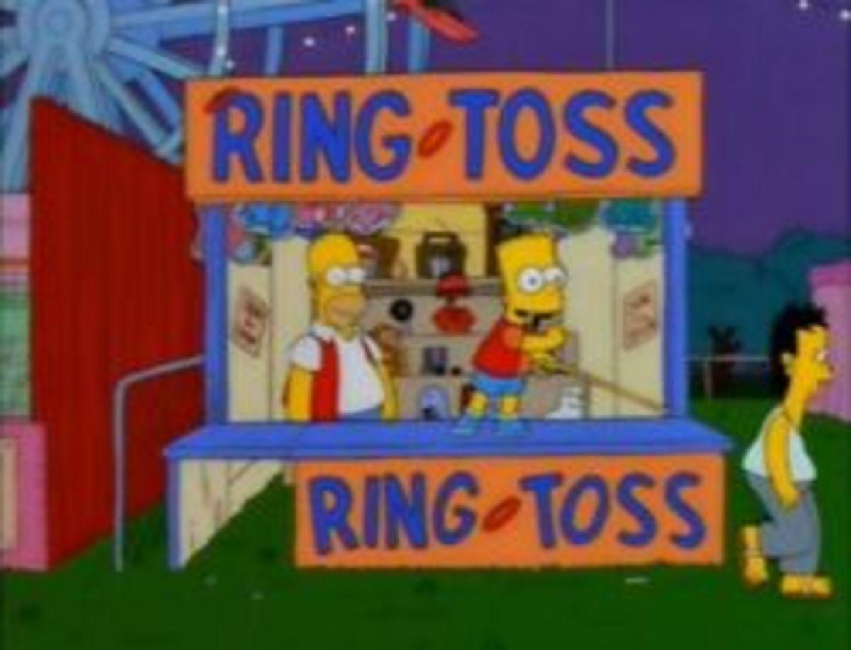 Homer and Bart play Carny
