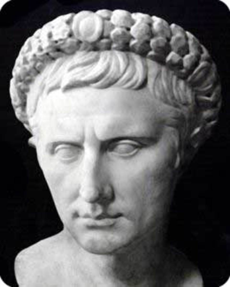Bust of Emperor Augustus wearing the Corona Civica.