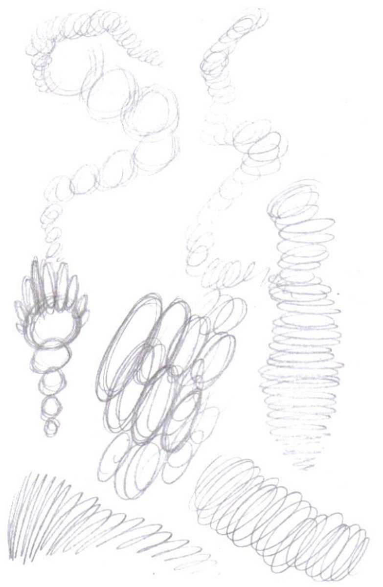 Drawing random pencil marks and scribbles, loosens your drawing hand.