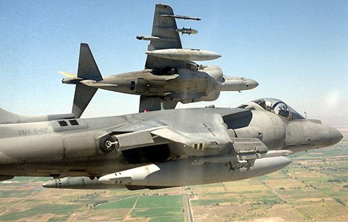 AV-8B Harrier II is a second generation vertical takeoff and landing VTOL and short takeoff and landing STOL ground attack fighter aircraft