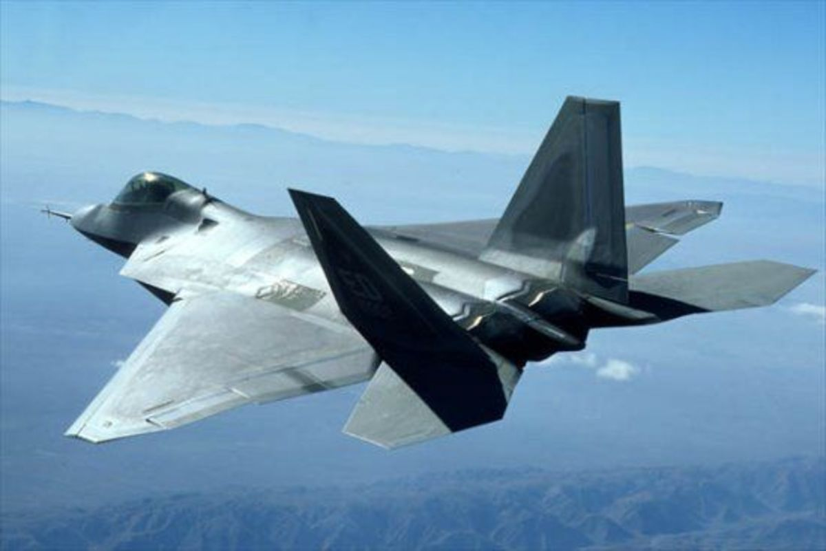 F-22 Raptor in air