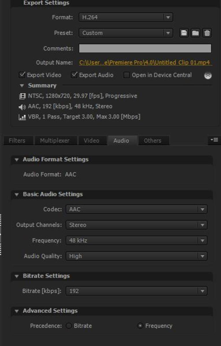 audio Settings screen shot