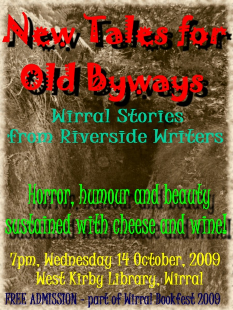 Poster for Riverside Writers' evening performance on October 14th, 2009.