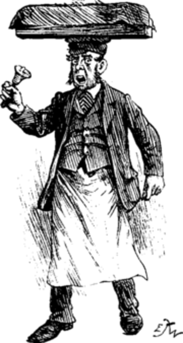 The Muffin Man with his bell Apart from modern cloths this picture from Victorian times is just how our Twyford Muffin Man looked,   Pic courtesy Wikipedia