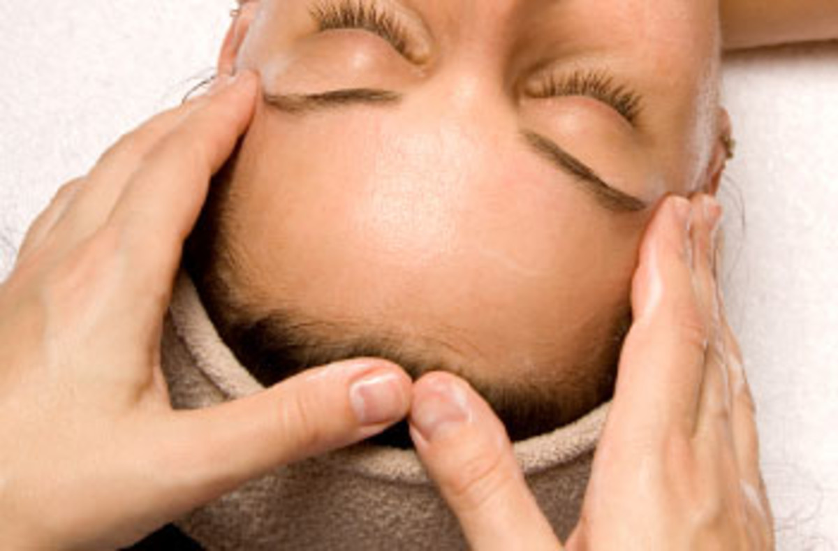 Professional scalp massage treatment