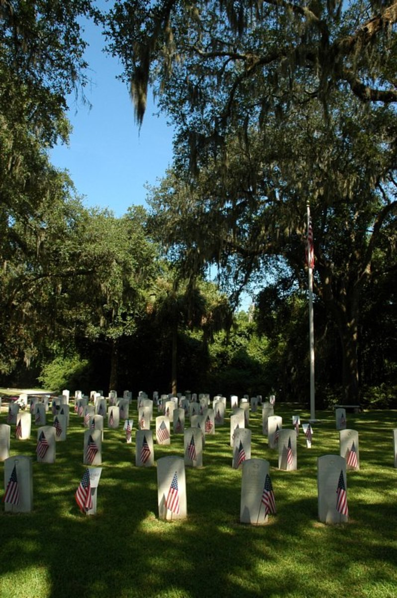 Haunted Military Cemetery Savannah Georgia