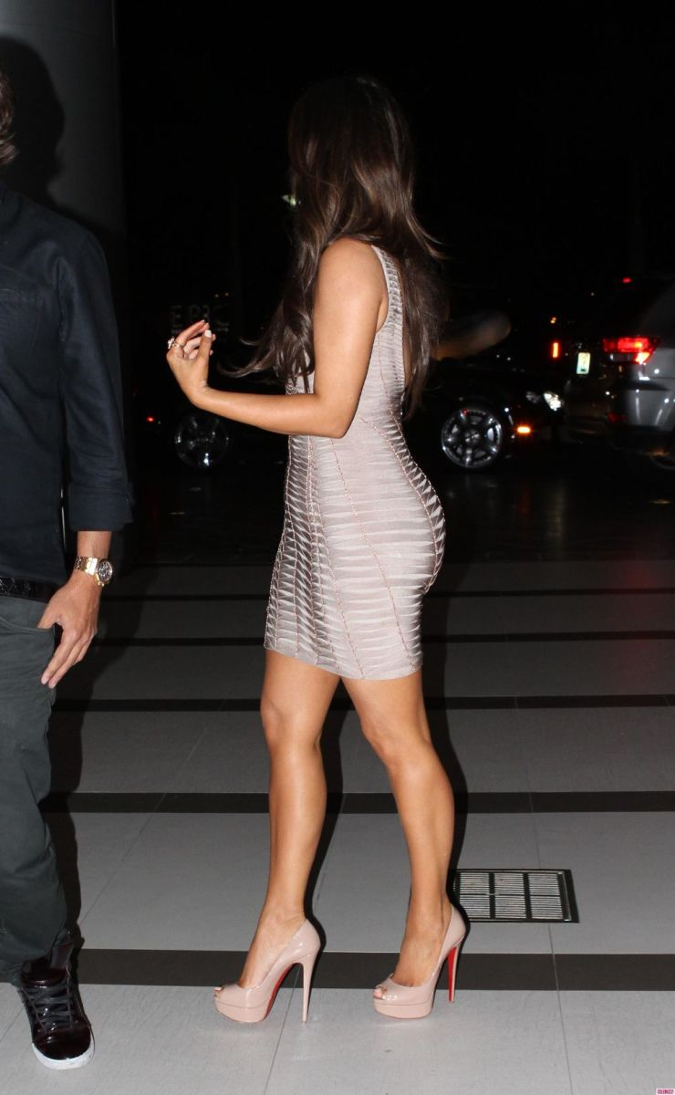 Kim Kardashian in a sexy silver dress
