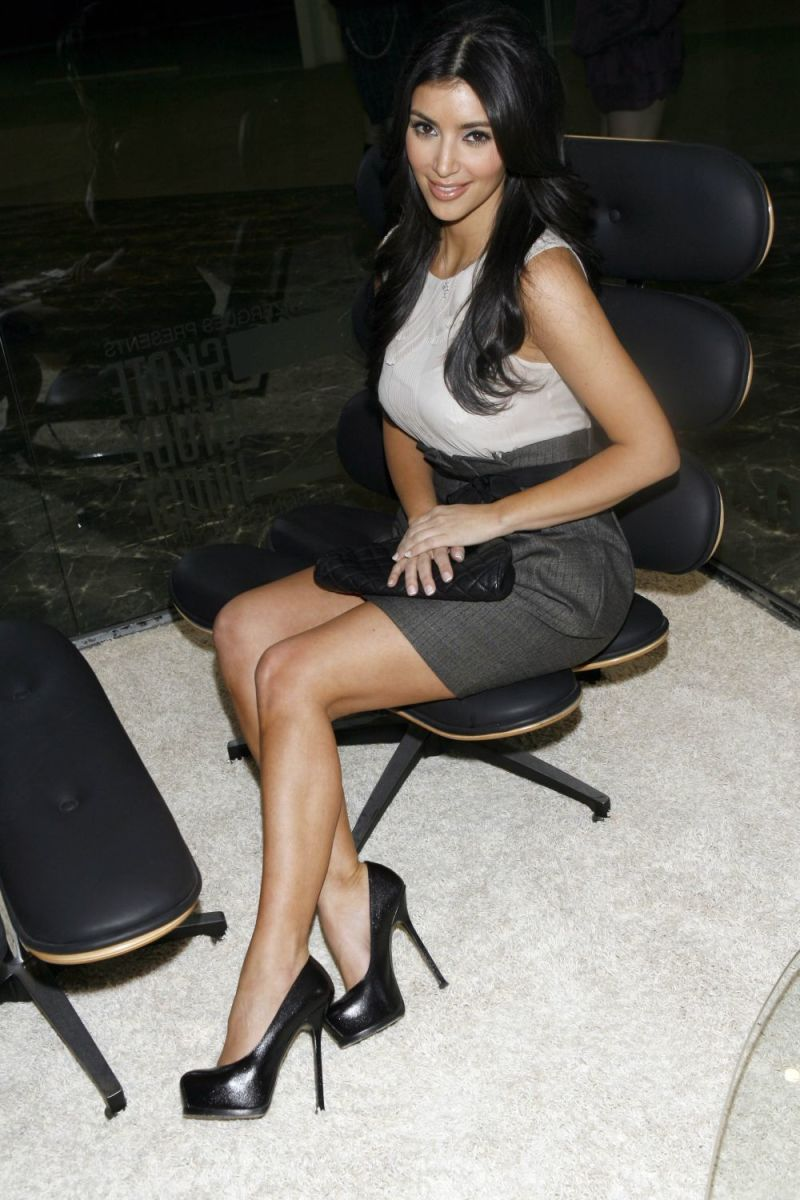 Kim Kardashian wearing towering high heels