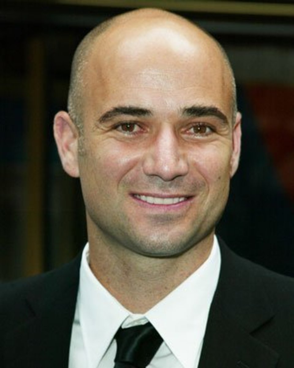 Andre Agassi bald