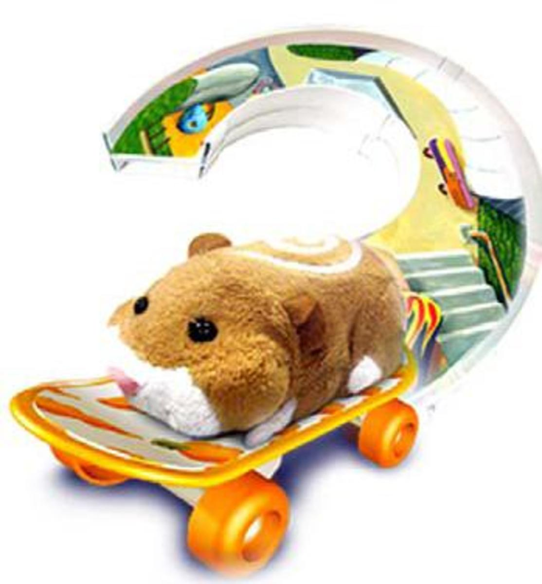 Zhu Zhu Pets Skateboard And Ramp