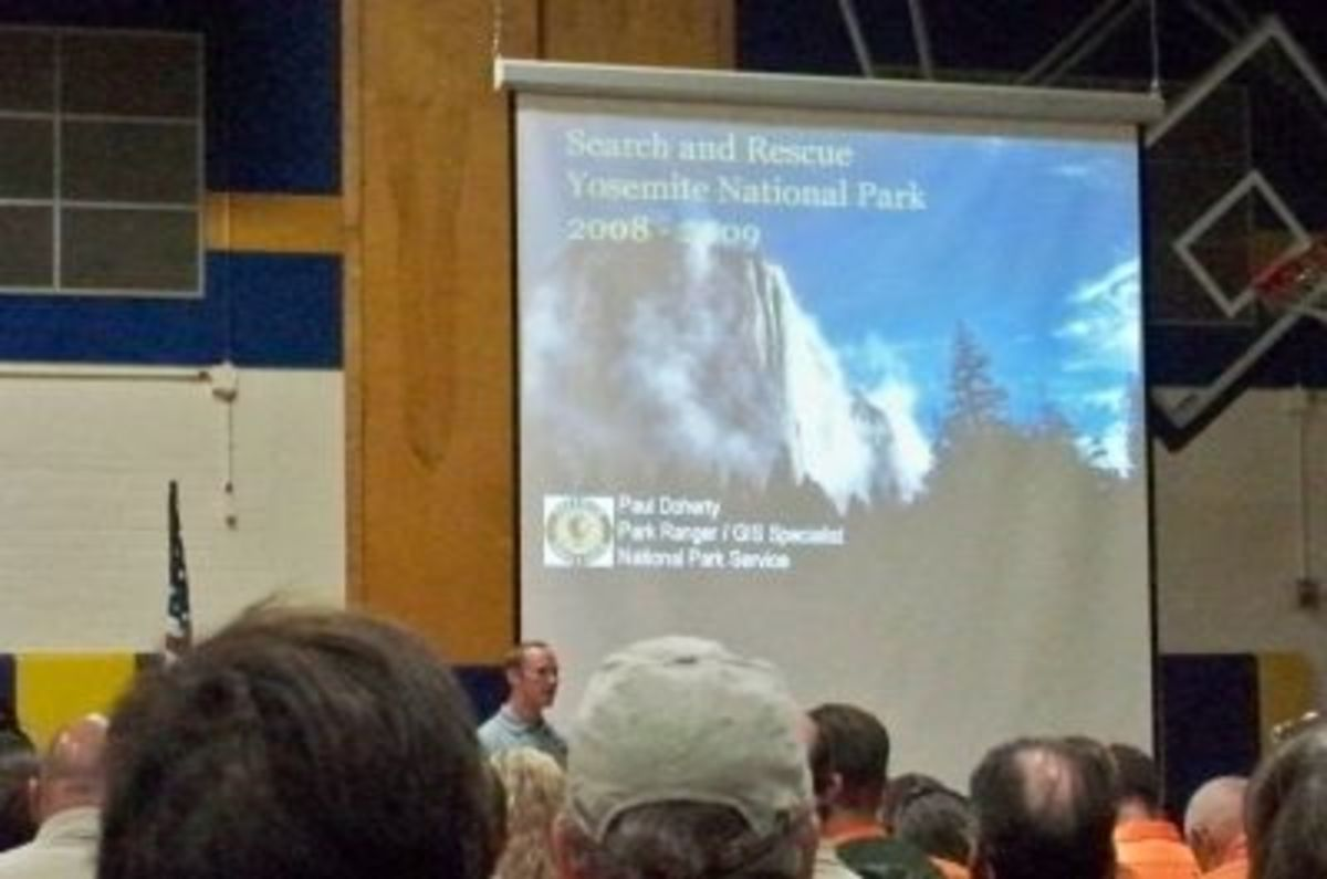 The Saturday evening presentation was given by Paul J. Doherty from Yosemite National Park Search & Rescue (YOSAR).
