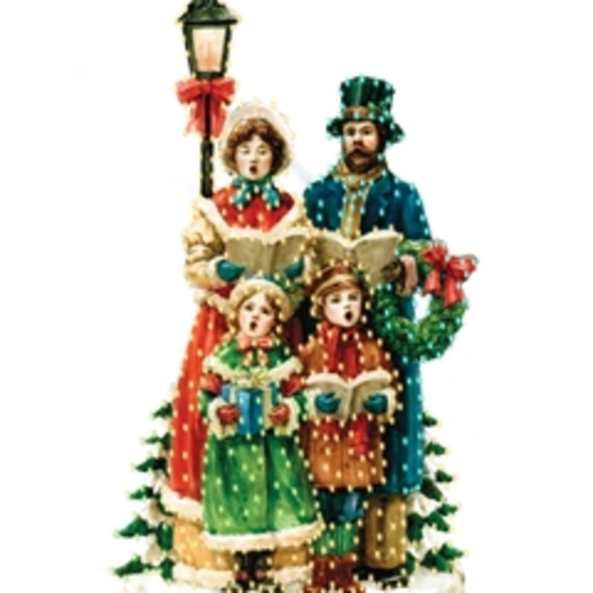 Victorian Christmas Carolers Decorations: Christmas Yard Art By Barnacle Bill