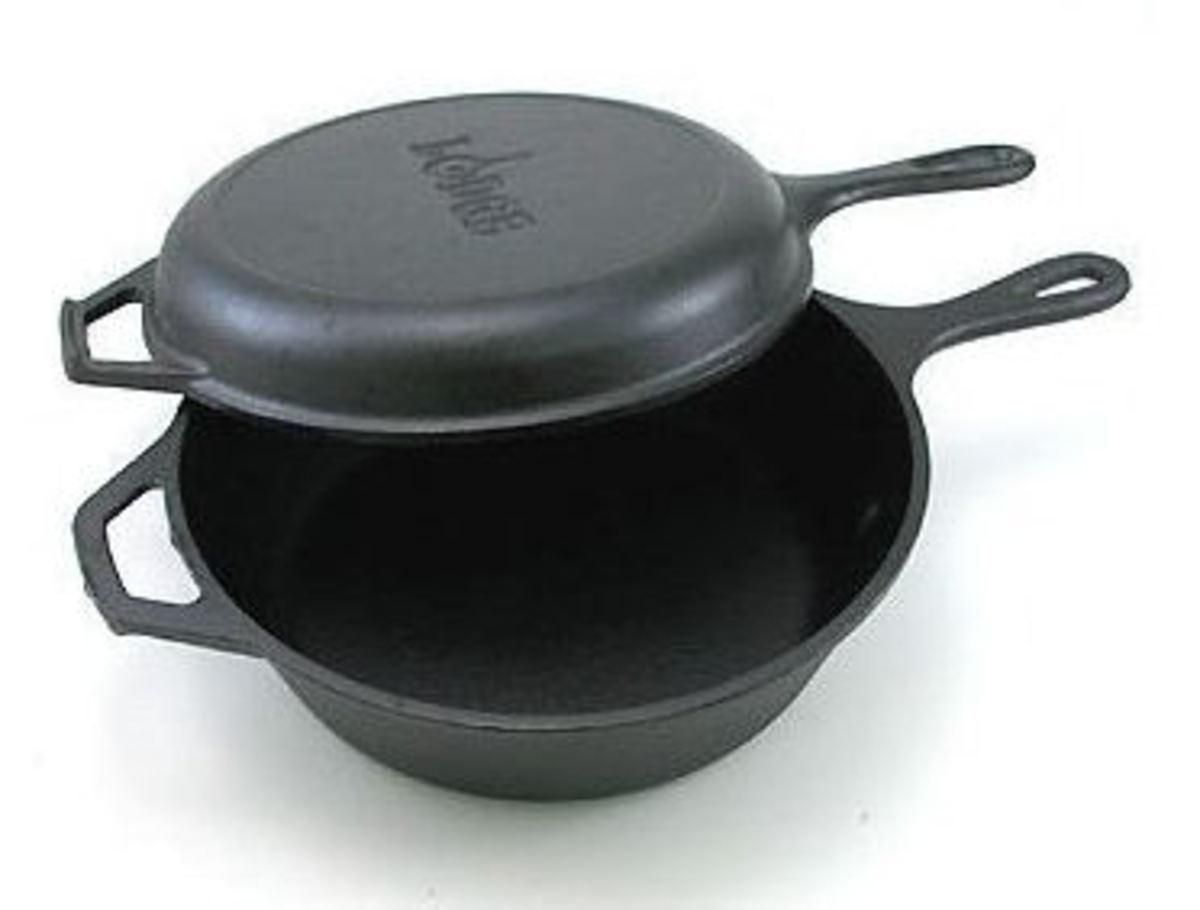 Lodge cast iron combo