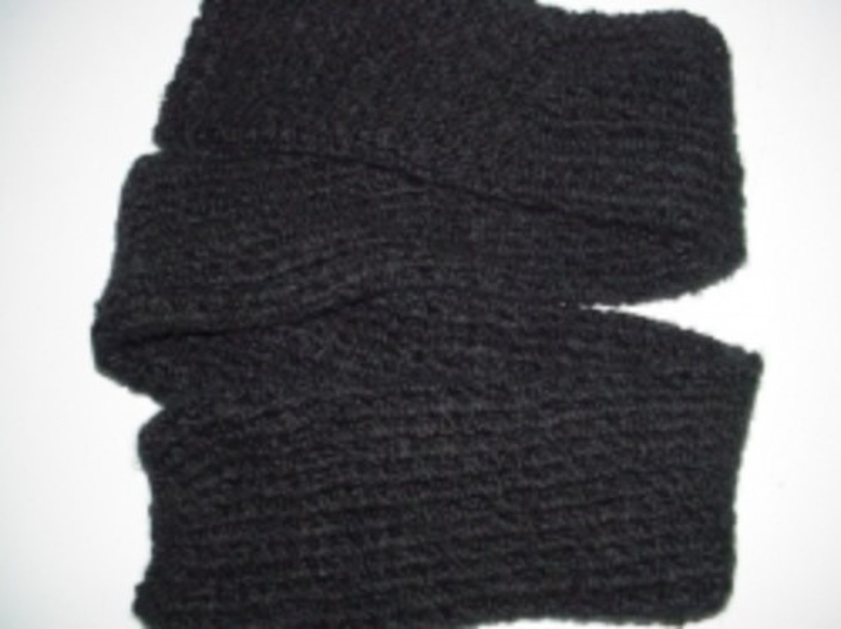 tube knit scarf