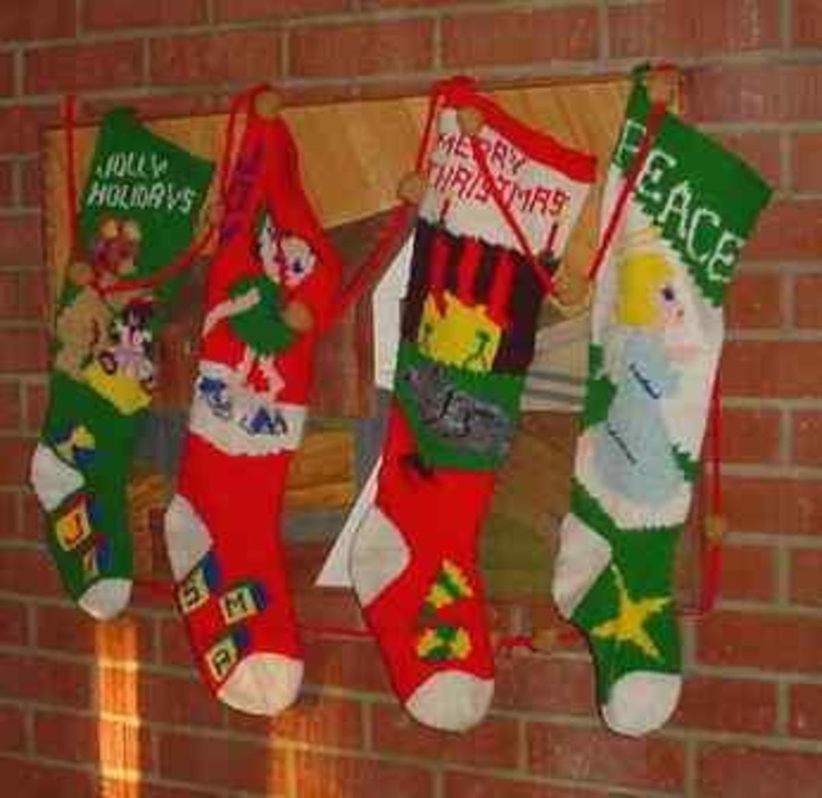Knitting Pattern Central Christmas : Knit Stockings Patterns   Catalog of Patterns