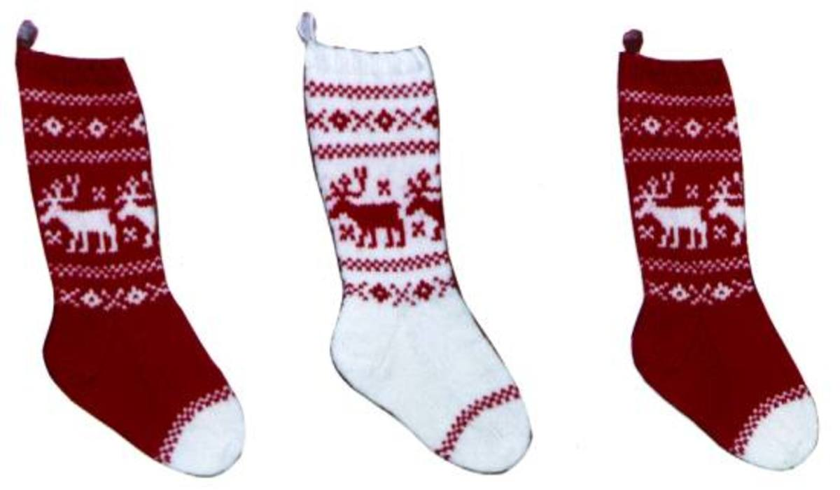 Christmas Stocking Pattern Knit : KNITTED CHRISTMAS STOCKING PATTERNS   Free Patterns