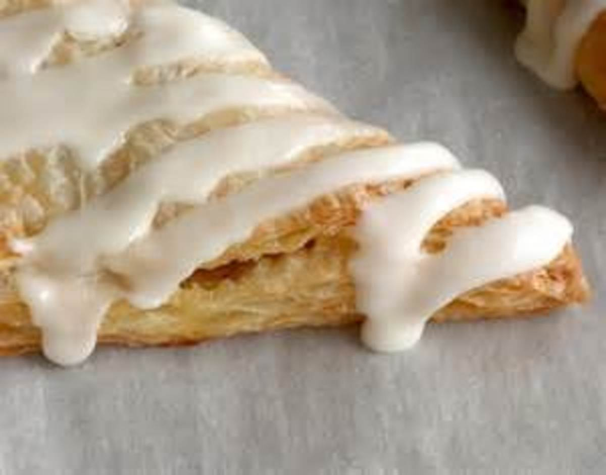 Apple Turnover with drizzle glaze