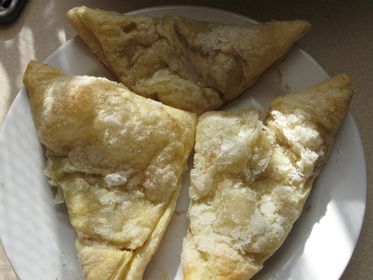 turnovers with sugar coating