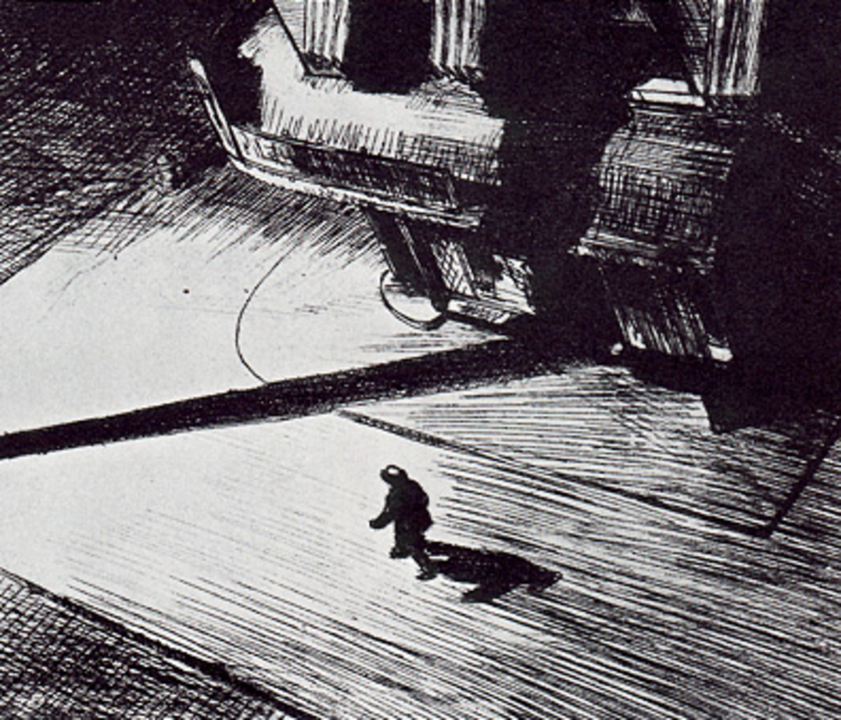 art study of night shadows by edward hopper