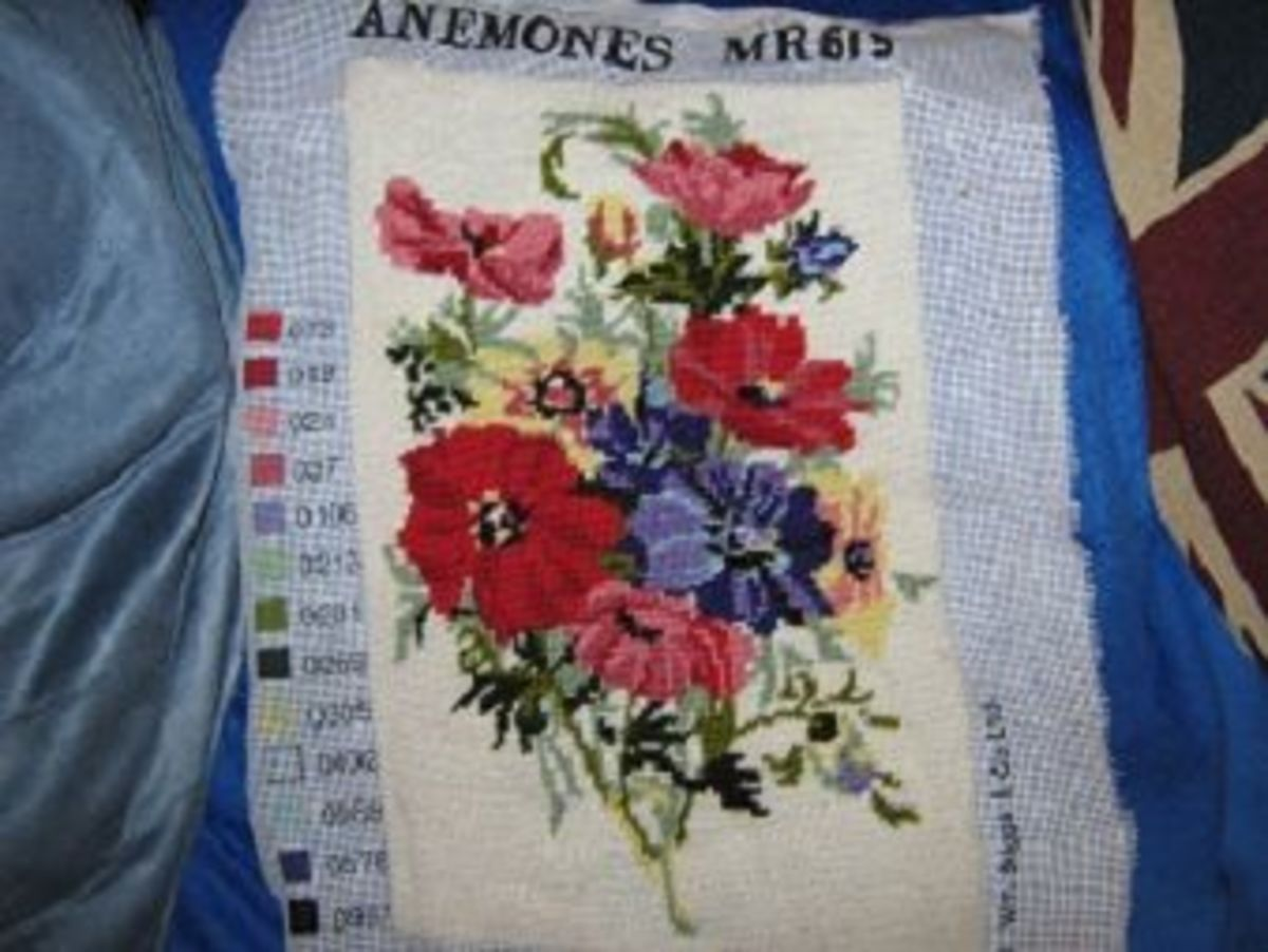 This was a tapestry piece I finished for an elderly friend of my mum's, who had begun it but couldn't manage it.