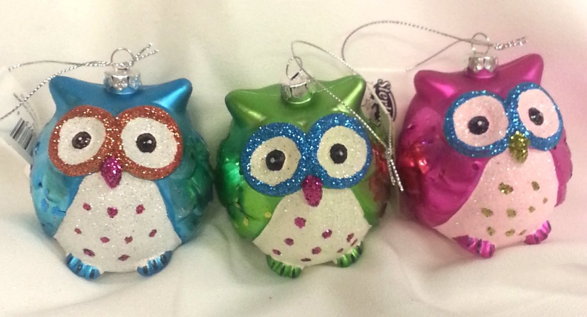 Fun Owl Christmas Ornaments