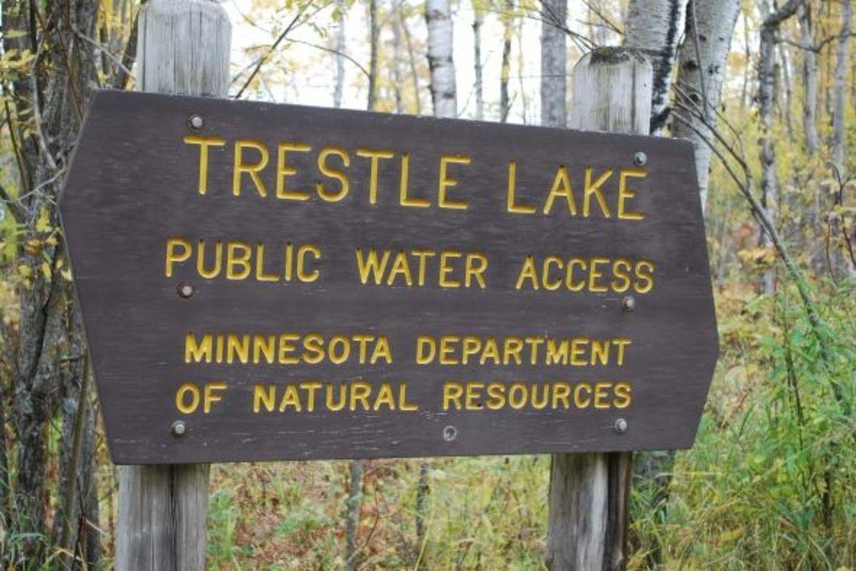 Trestle Lake, south of Big Falls.