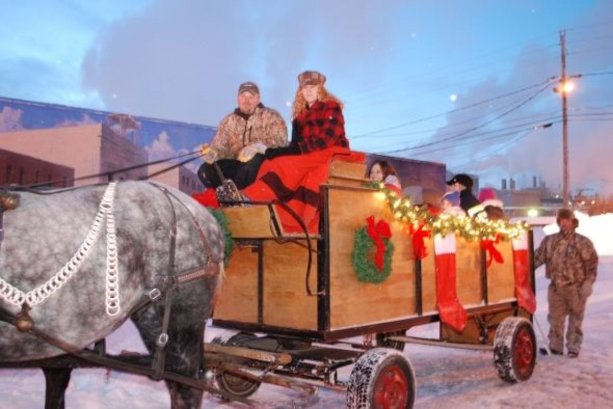 Every year, the Mann's give horse-drawn rides as the holiday season kicks off.
