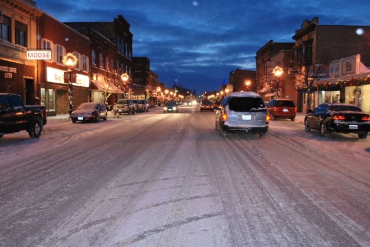 "Okay, a scene from ""A Christmas Story"" it's not, but it is a nice shot of downtown International Falls."