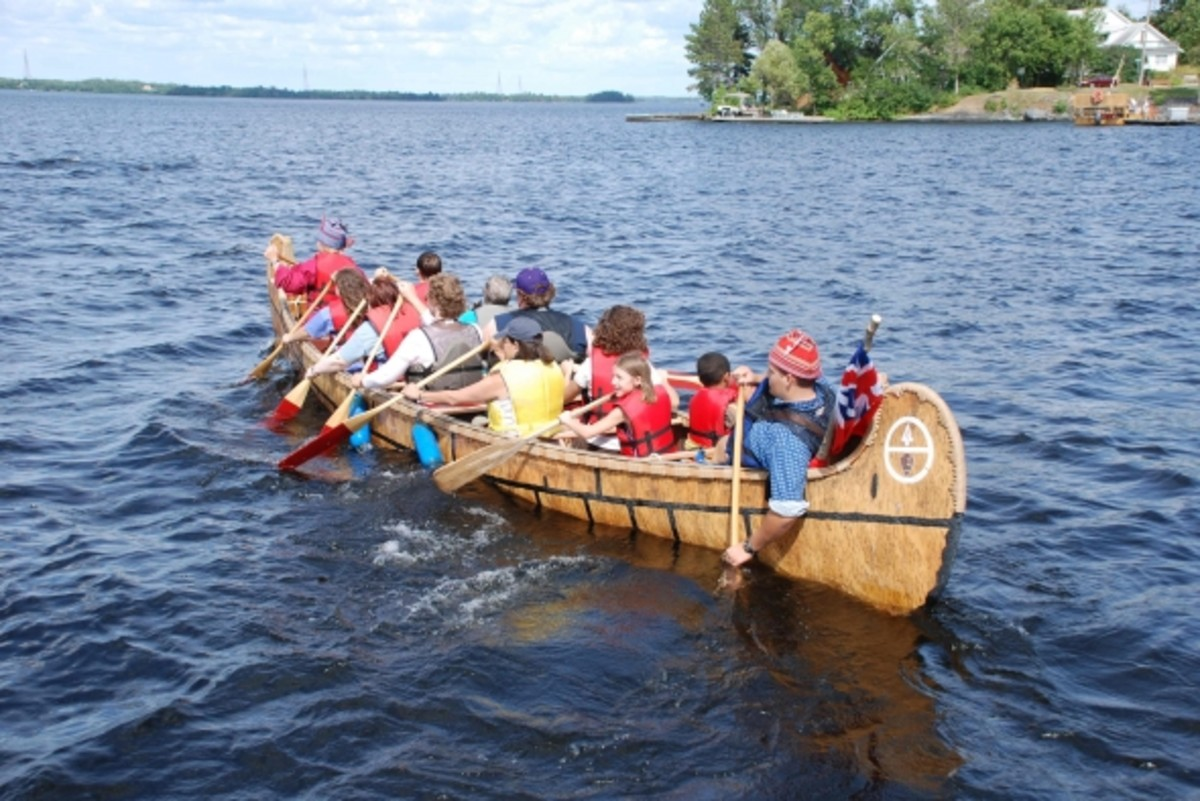 Voyageurs National Park participates in the Ranier Days celebration by providing north canoe rides.