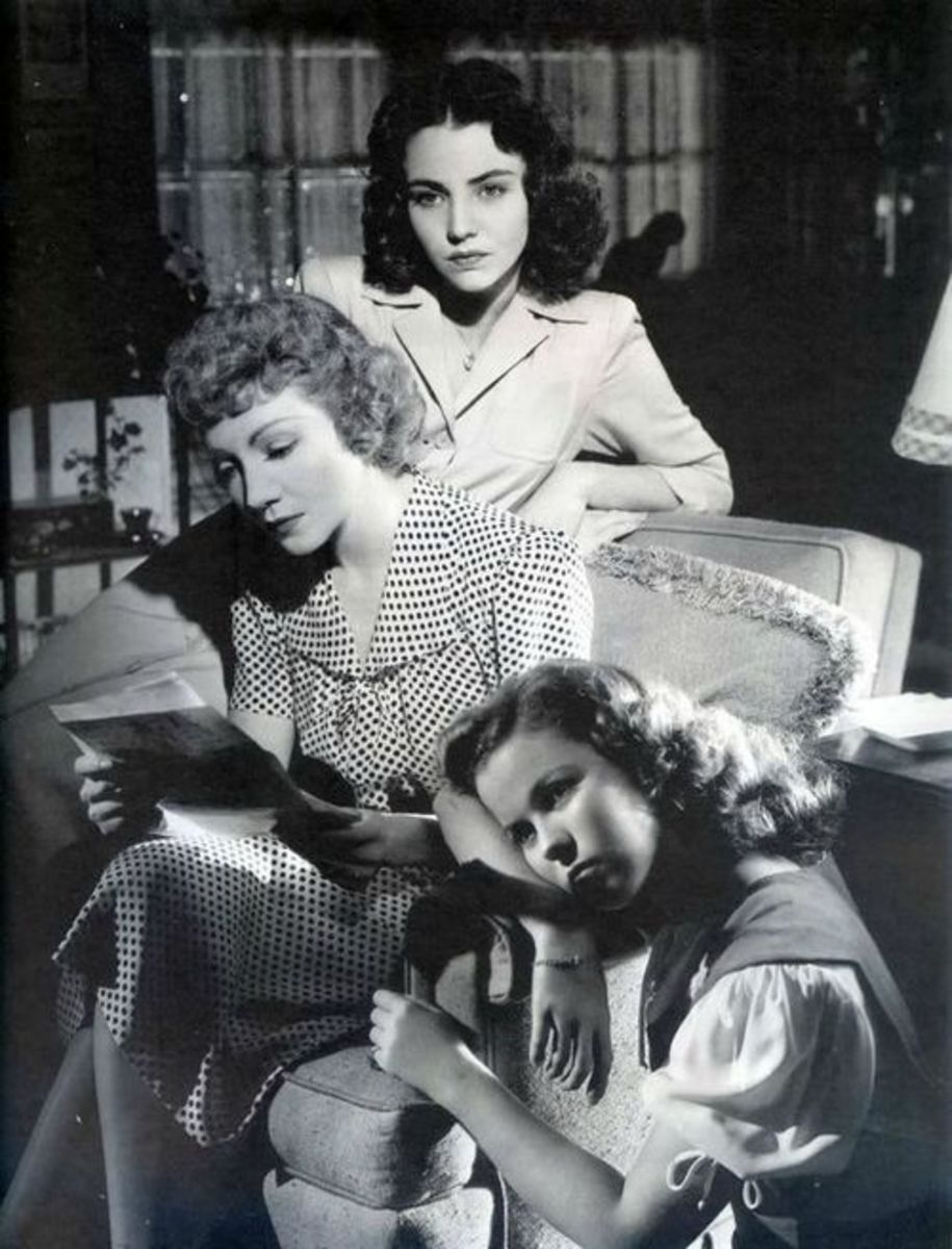 "Jennifer Jones, Claudette Colbert, Shirley Temple in ""Since You Went Away"""