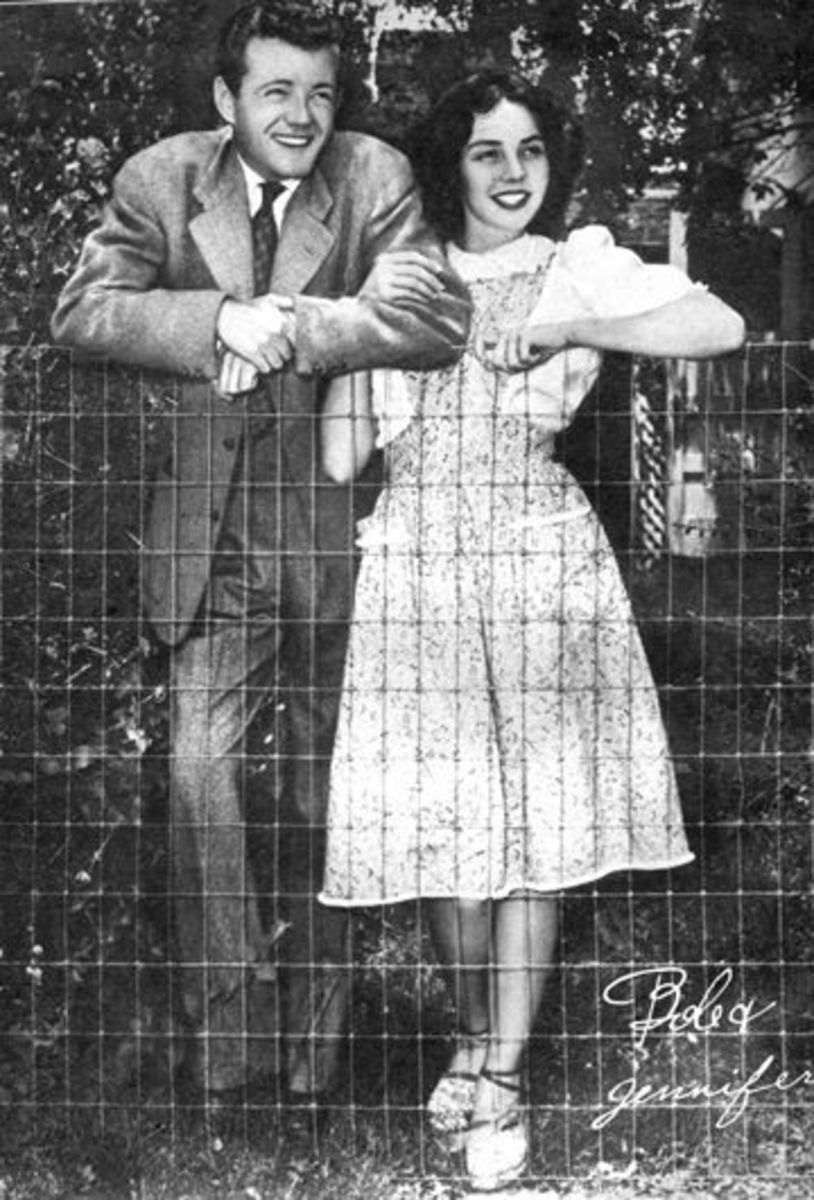 Robert Walker and Jennifer Jones