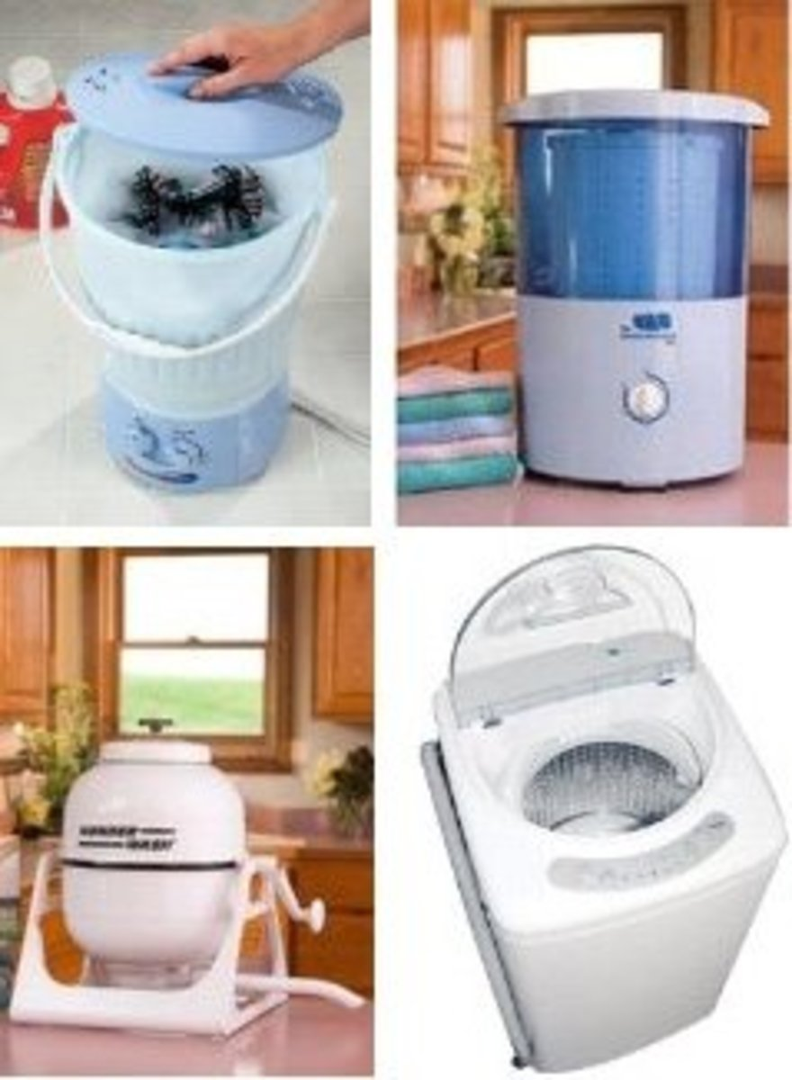 Small Countertop Washing Machines - Mini Portable Washers For Camping and Apartments