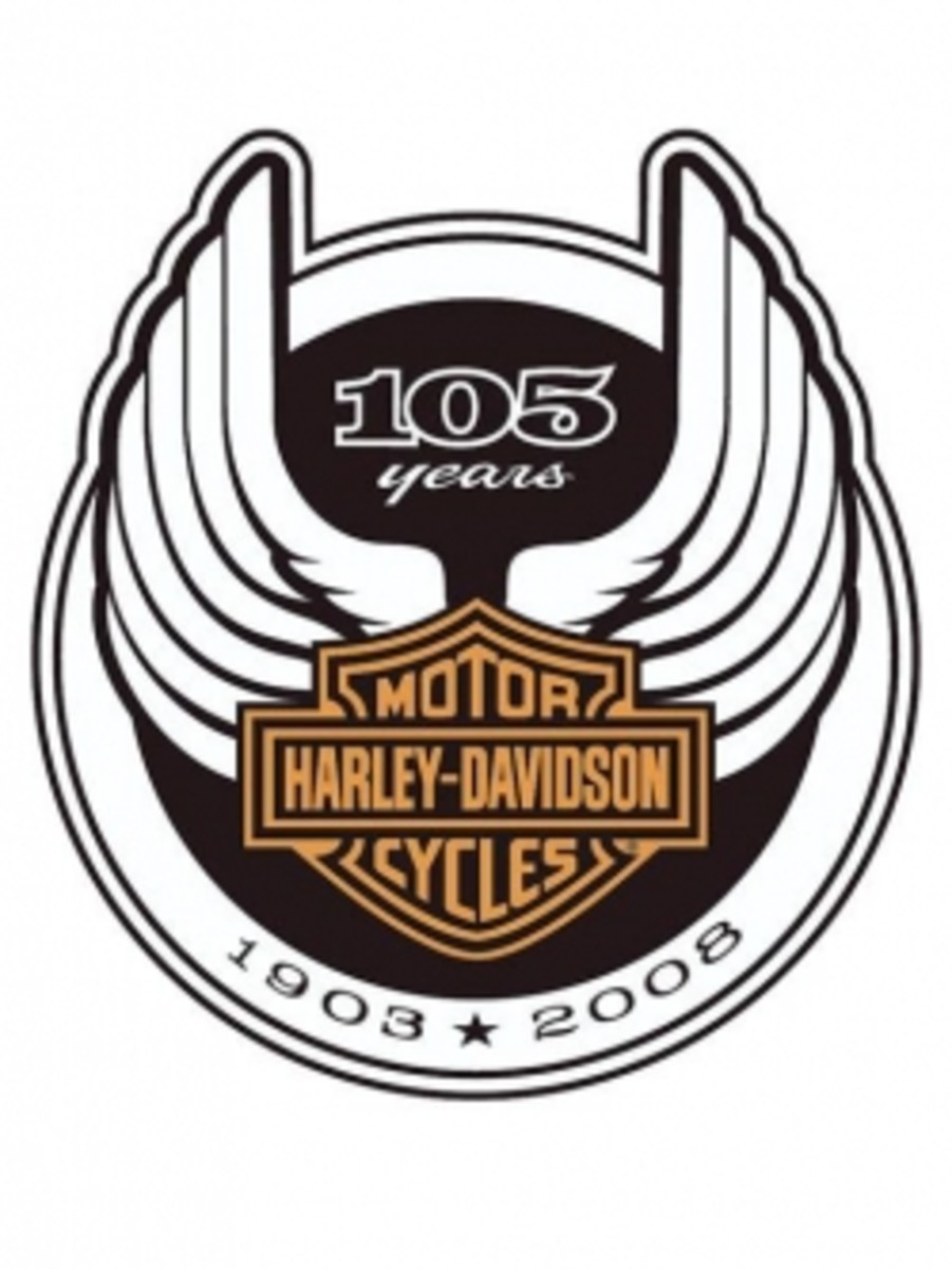 Harley Davidson 105th Anniversary Logo