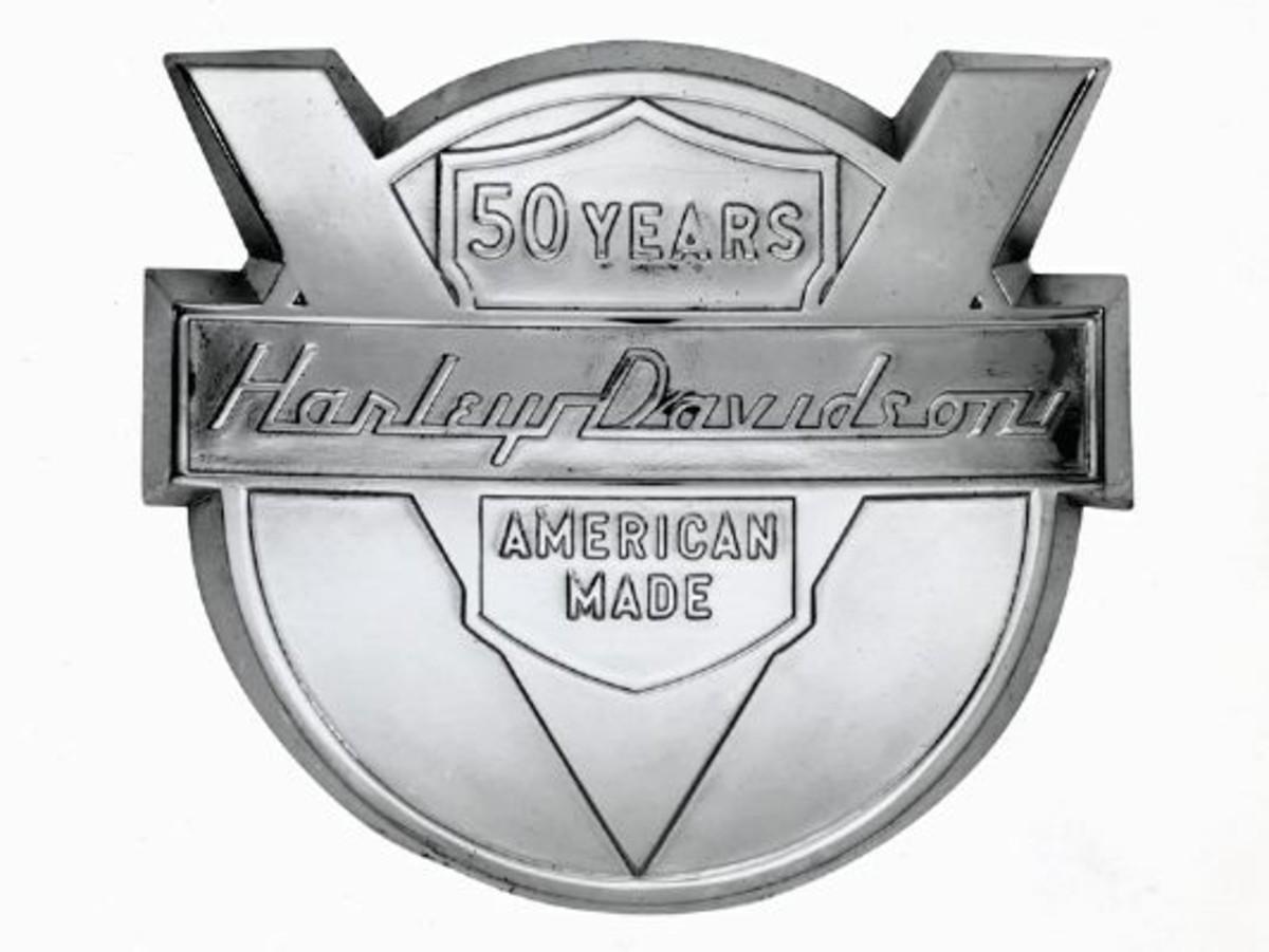 Harley Davidson 50th Anniversary Logo