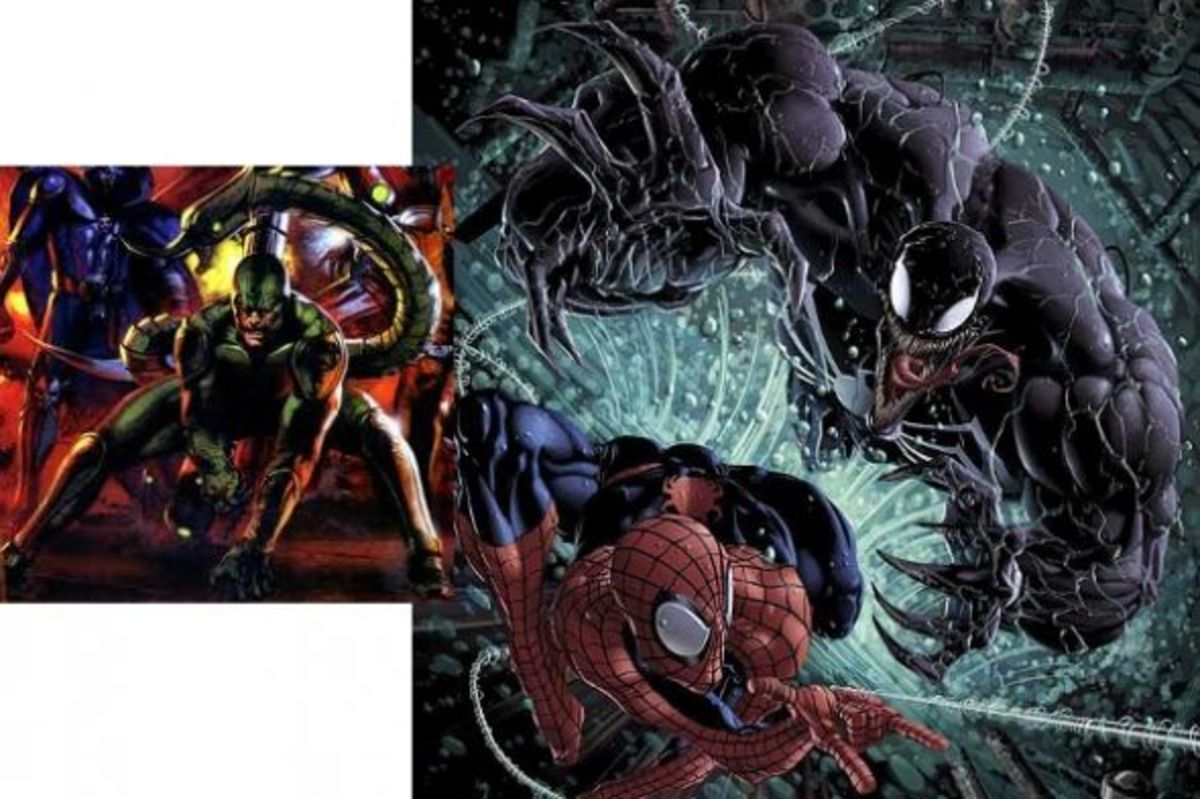 Mac Gargan, Scorpion, and Venom