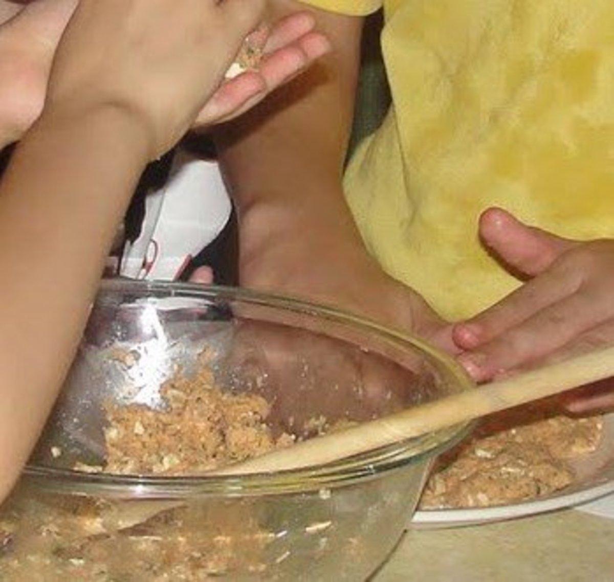 Making Salmon Cakes
