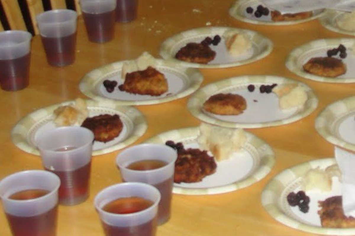 Food served at the Potlatch Ceremony