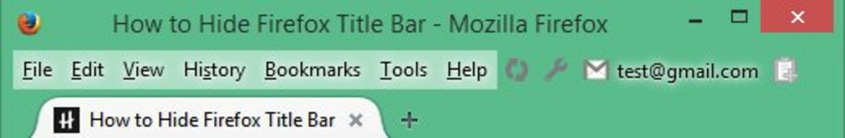 How to Hide Firefox Title Bar