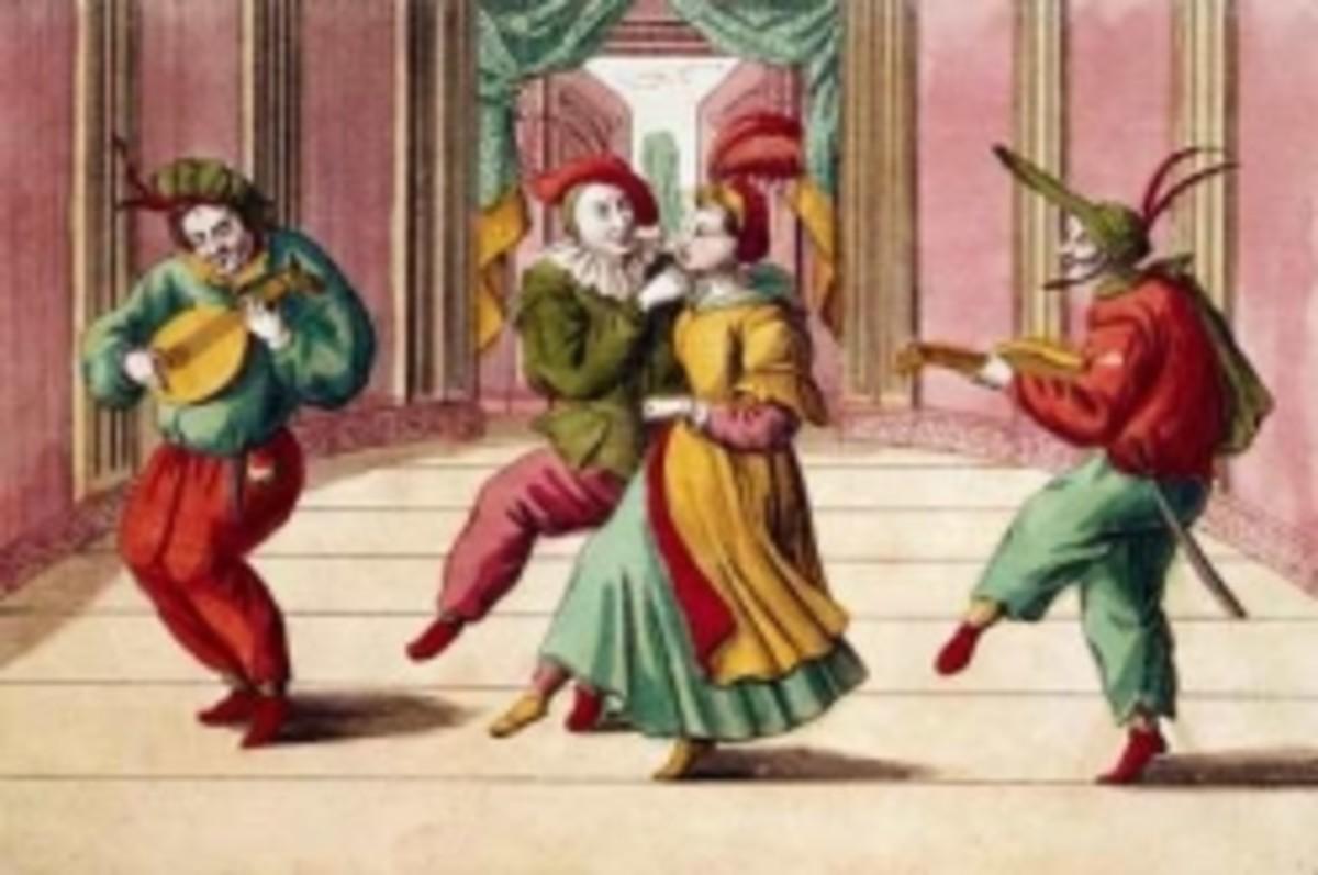 18th century Commedia dell'Arte, public domain