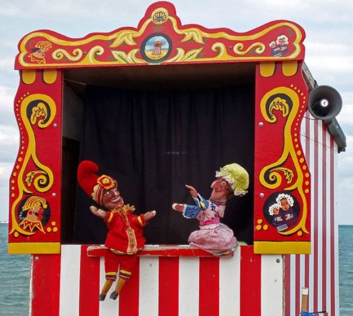 Punch and Judy on tour in Swanage, courtesy of Wikimedia