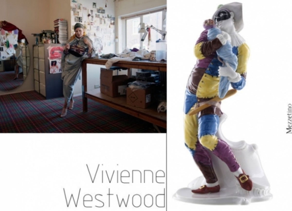 A figure of Mezzetino by Vivienne Westwood for Nymphenberg (image borrowed from theirs website)