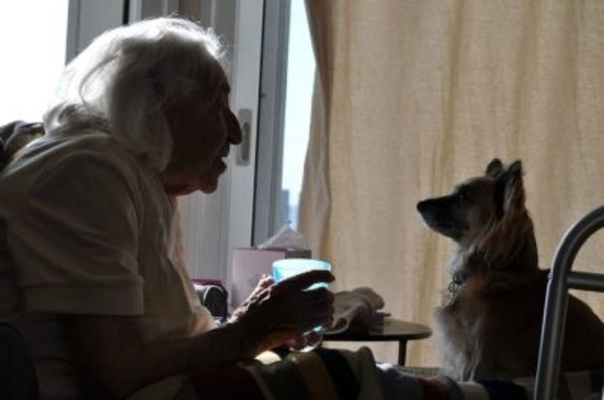 One of my favorite pics of all time - Mom and Rita having a conversation.