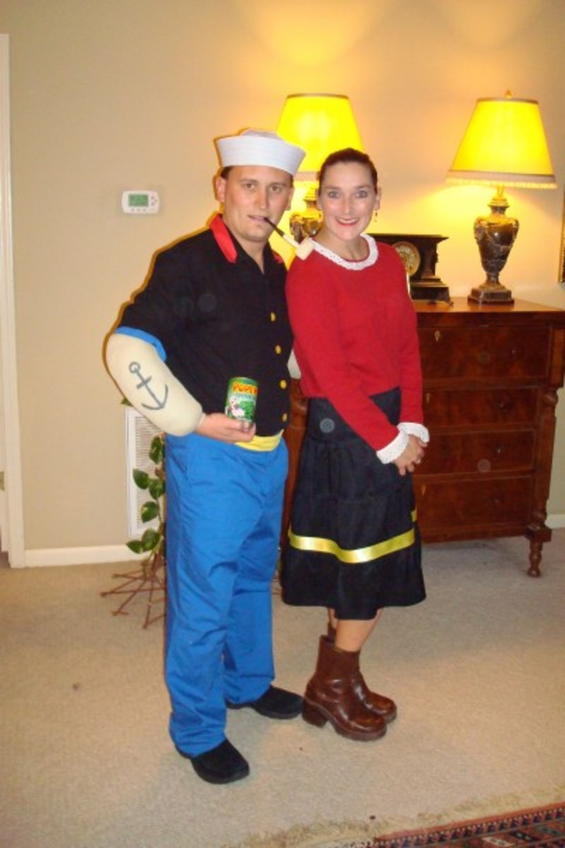 Popeye and Olive Oyl Couples' Costumes