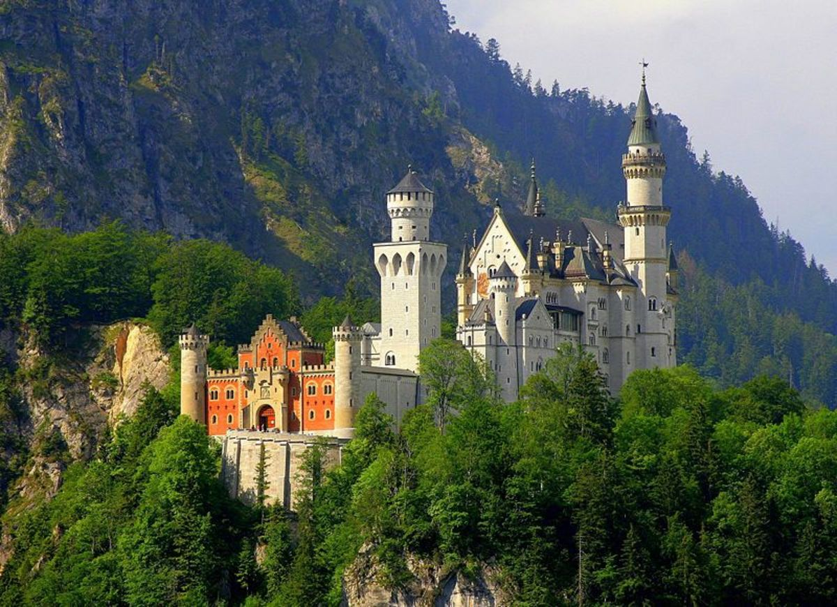 Another view of Neuschwanstein Castle in Bavaria, Germany.